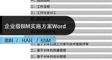 BIM方案下载|企业级BIM实施方案Word全套下载