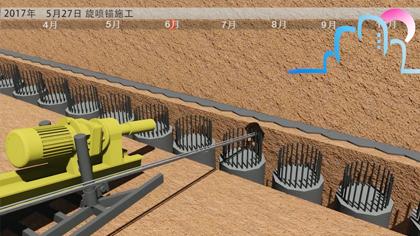 工艺模拟演示视频:旋喷锚施工工艺模拟