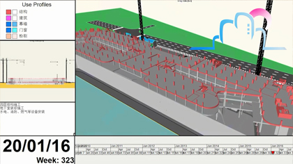 施工模拟演示视频:施工进度模拟视频