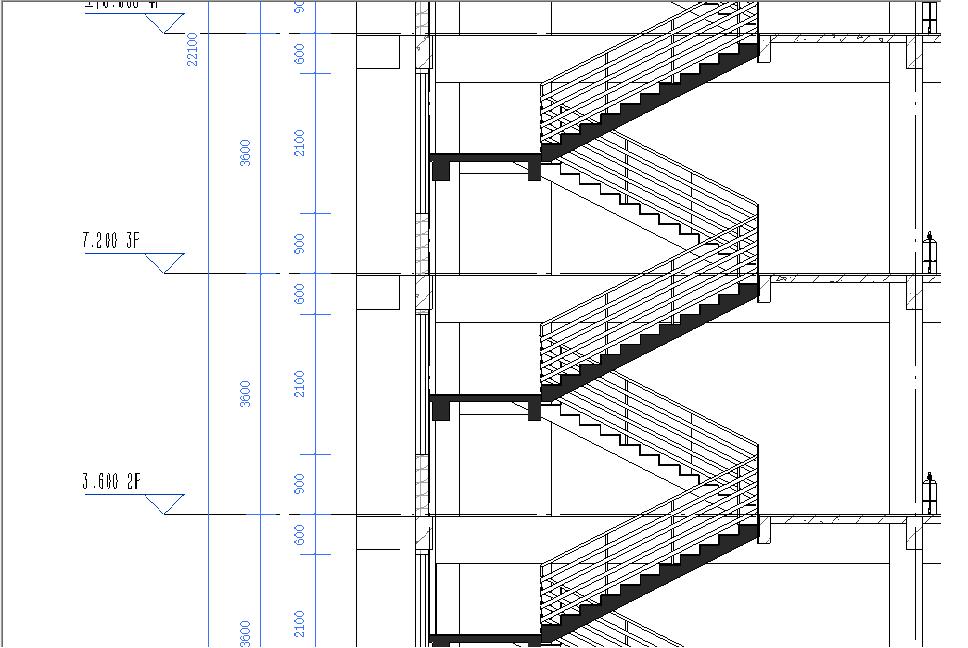 转——revit进行楼梯间剖面图平台梁绘制技巧