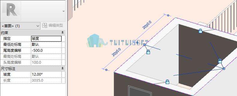 腿腿教学网-Revit教程 | Revit创建斜天花板以及人字天花板教程