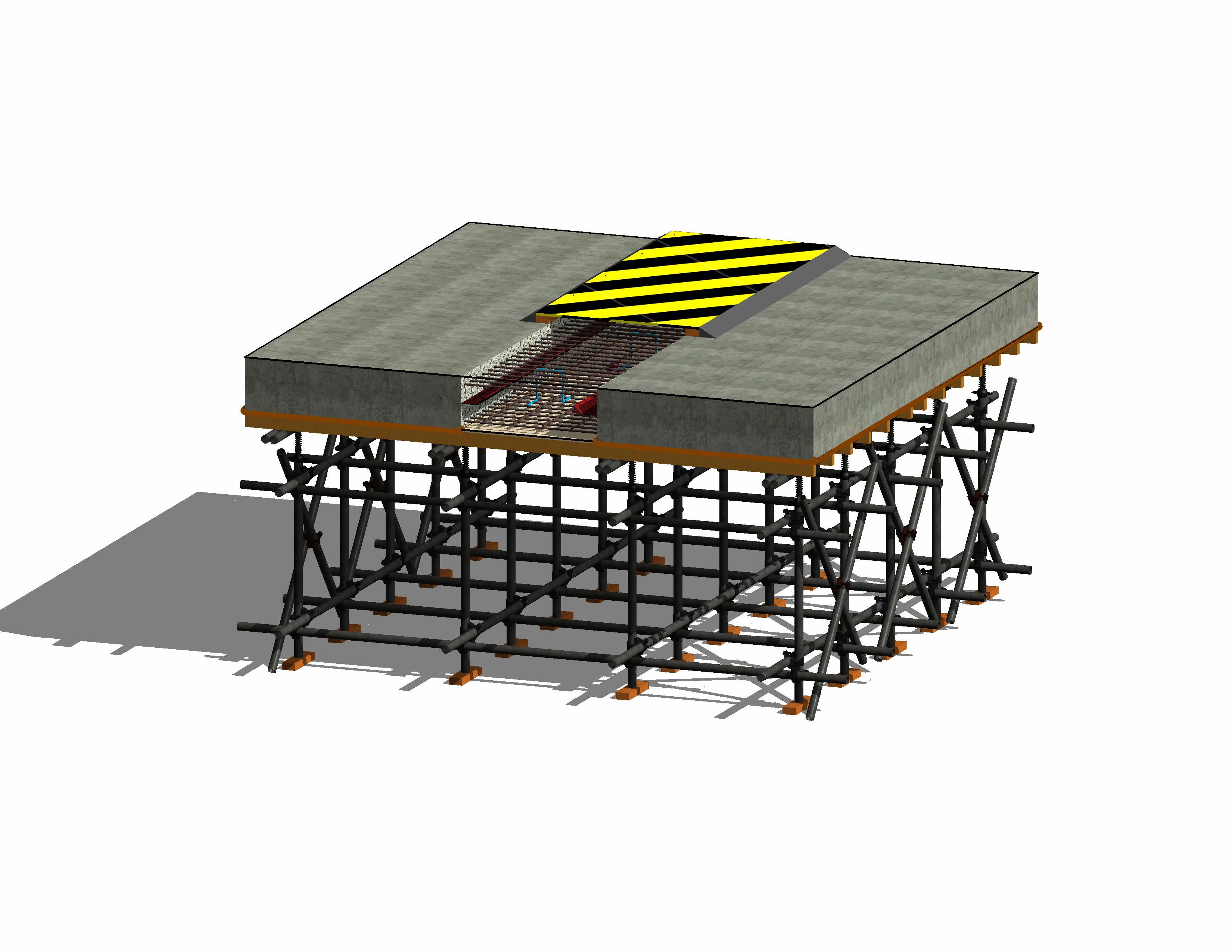 后浇带样板三维模型.png