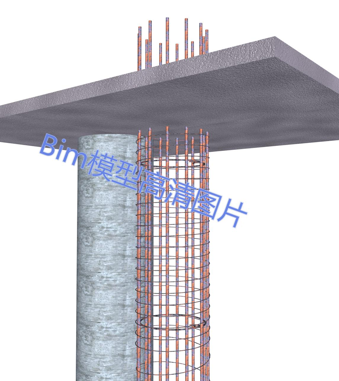 工程桩三维模型高清图片包.png