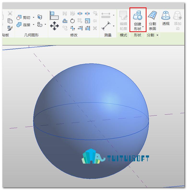 腿腿教学网-Revit体量中表面填充图案的使用方法
