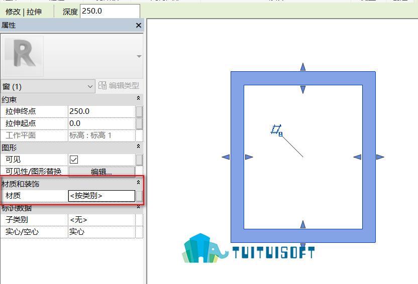 腿腿教学网-Revit内建模型材质怎么设置,通过添加参数的方法