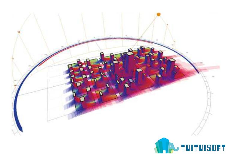 腿腿教学网-BIM模型与建筑室外风环境