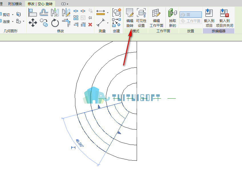 腿腿教学网-revit中圆形台阶的创建