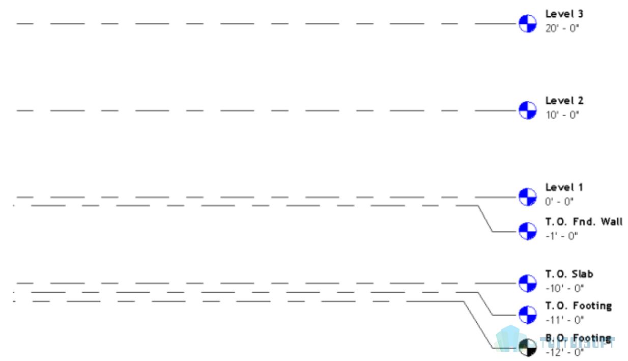 腿腿教学网-Revit入门级教程第三章-Revit标高与轴网