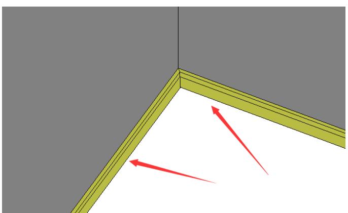腿腿教学网-Revit简易的踢脚线创建与设置使导出图纸线条清晰