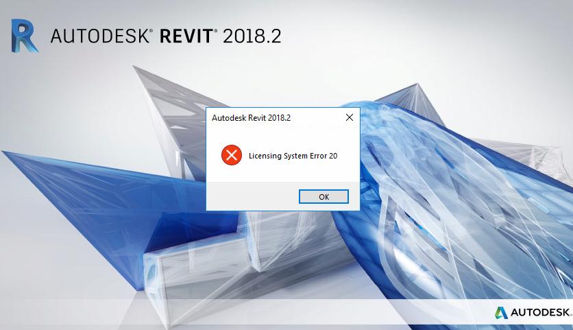 "Revit系统错误怎么办?启动Revit时出现错误:""许可系统错误20"""