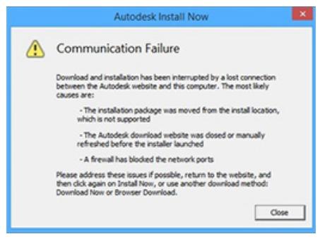 """Autodesk通信失败是为什么?安装 Autodesk 软件时出现""""通信失败"""""""