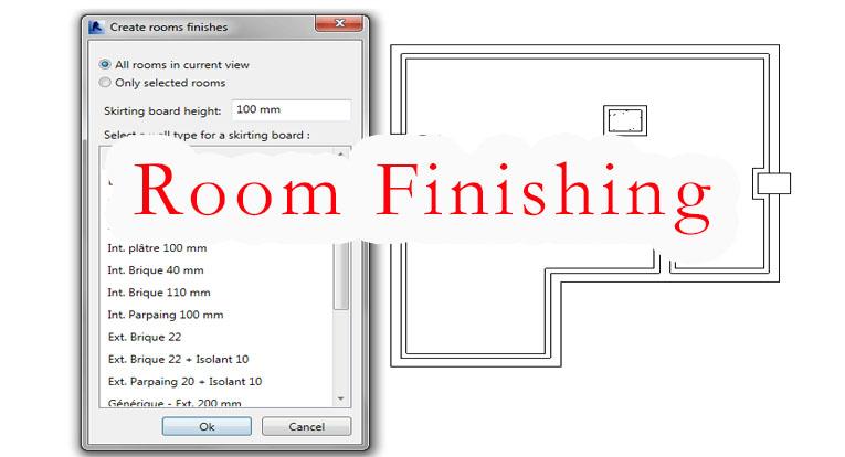 Room Finishing快速创建踢脚线及楼板